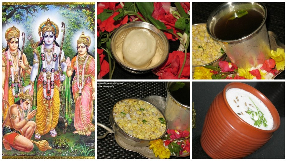 Sri Rama Navami Naivedyam - Pachi Chalimidi, Vada Pappu, Majjiga, Panakam