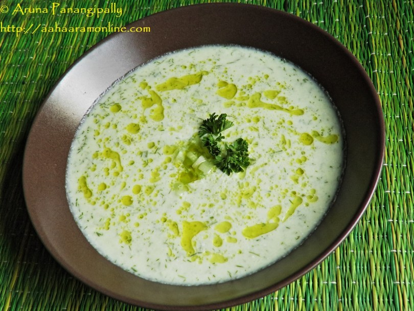 Cold Cucumber Soup Recipe