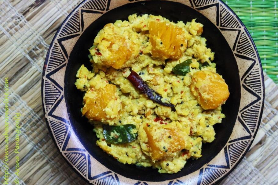 Gummadikaya Kura | Andhra Style Red Pumpkin Curry