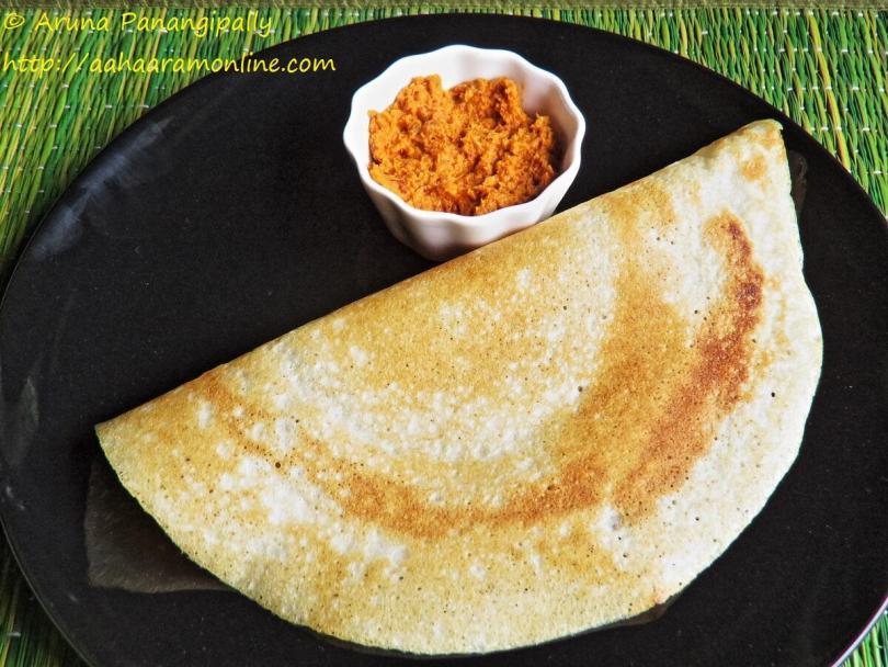 Restaurant Style Crispy Sada Dosa – Guest Post by Anupama Michael