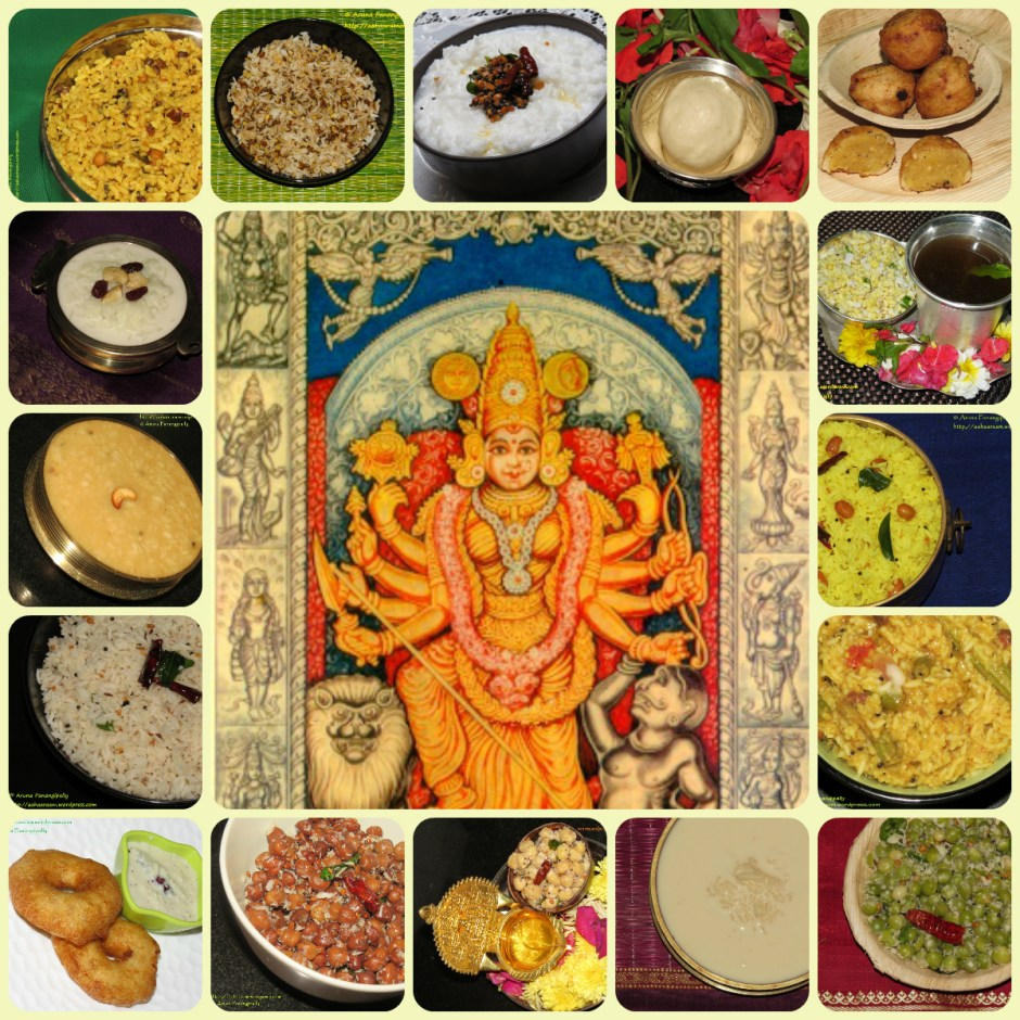 Devi Navratri 2017 - Colours to Wear and Naivedyam Recipes