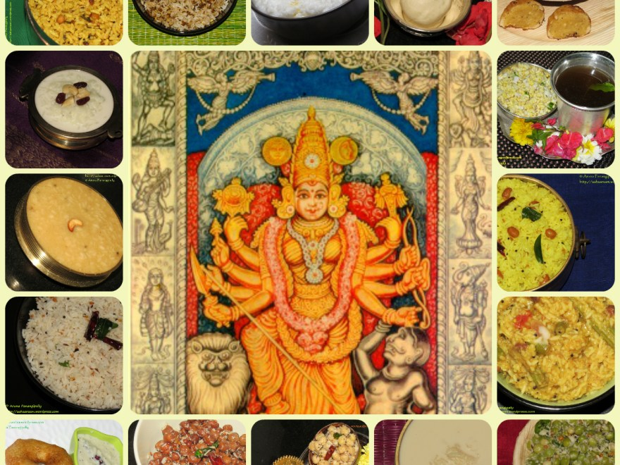 Devi Navratri 2017 - Colours to Wear and Naivedyam Recipes