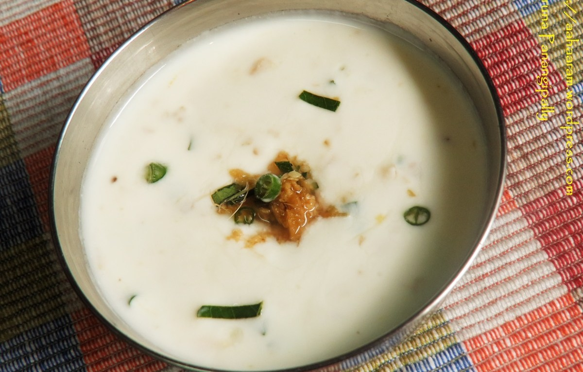Inji Thayir - Yogurt with Ginger - Onam Sadya Recipe