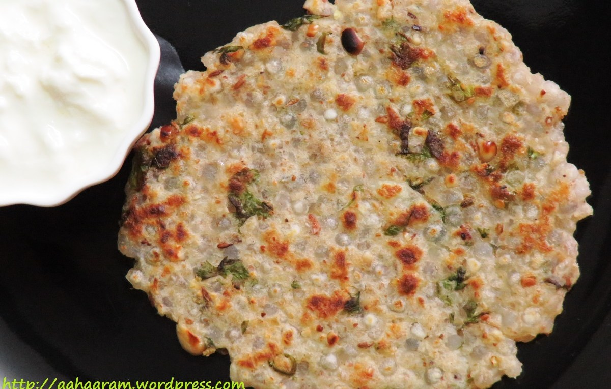 Sabudana Thalipeeth is a pancake made with Sabudana and Potato
