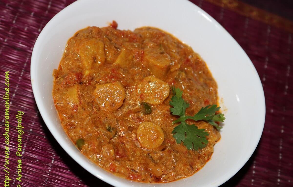 Rajasthani Gatte ki Sabzi   Gatta Curry
