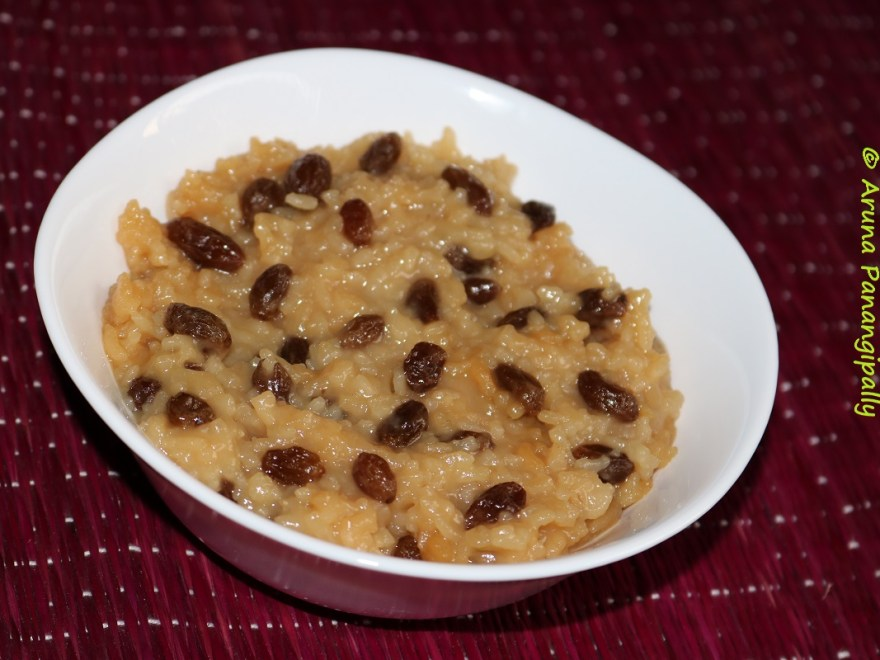 Vegan Rice Pudding with Raisins. Cinnamon, and Coconut Milk