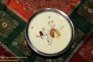 Bengali Channar Payesh made with reduced milk and paneer