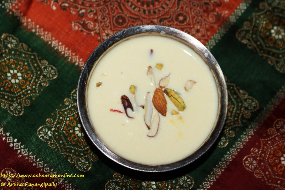 Bengali Channar Payesh made with reduced milk and freshly made paneer. Can also be called Paneer Kheer.