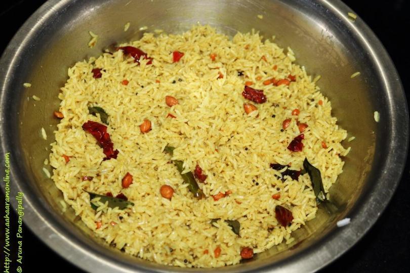 Chintapandu Pulihora | Puliyogare | Puliyodharai | Tamarind Rice