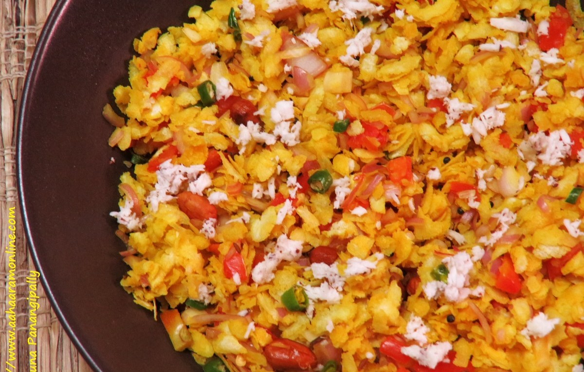 Dadpe Pohe | A Snack from Maharashtra made with Poha, Tomato and Onion
