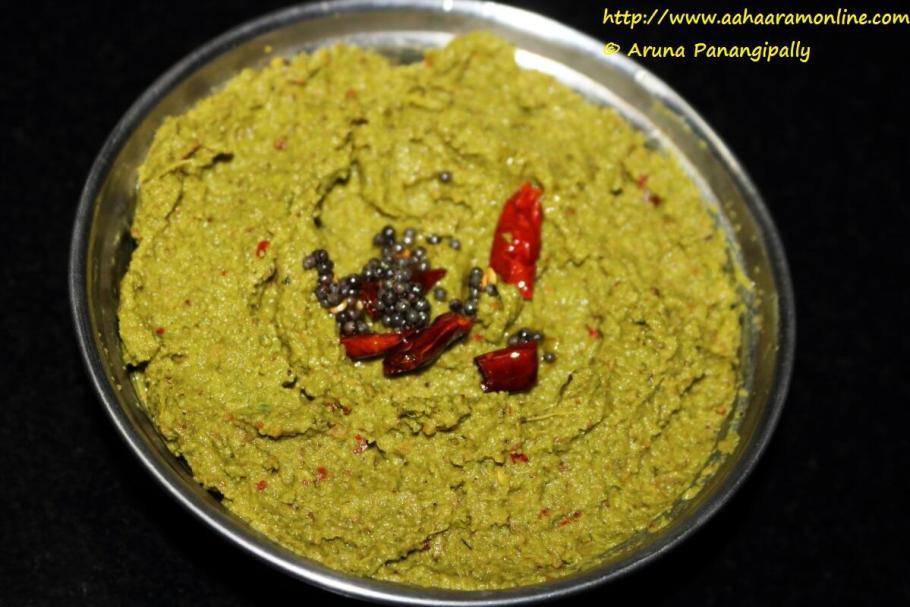 Beerakaya Thokku Pachadi | Ridge Gourd Peel Chutney is an Andhra Specialty