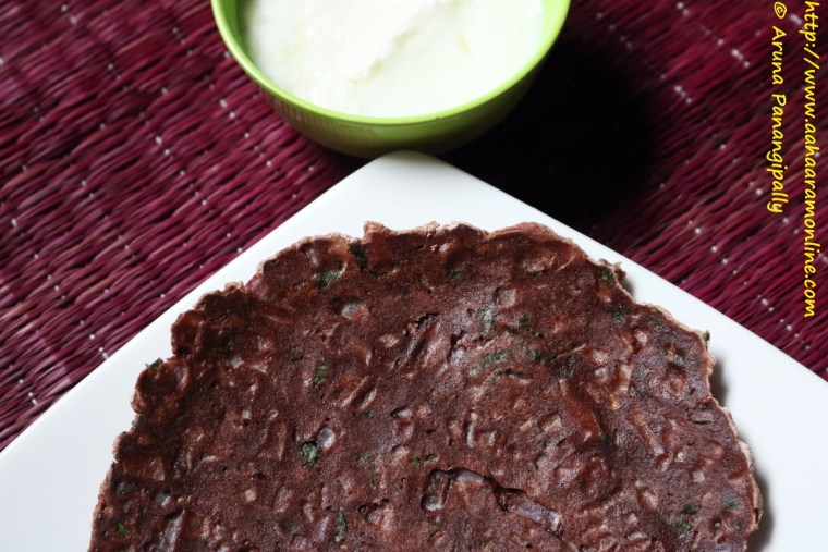 Ragi Rotti   Nachni Roti   Unleavened Bread Made with Finger Millet Flour