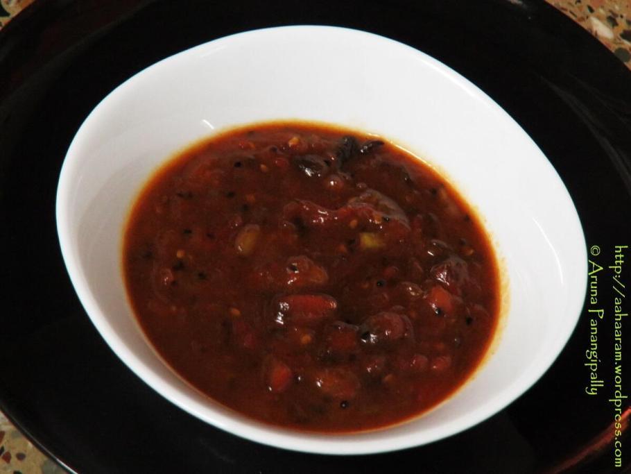 Bengali Style Tomato, Date, Mango Leather Chutney