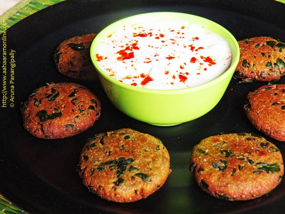 Methi Dhebra served with yogurt