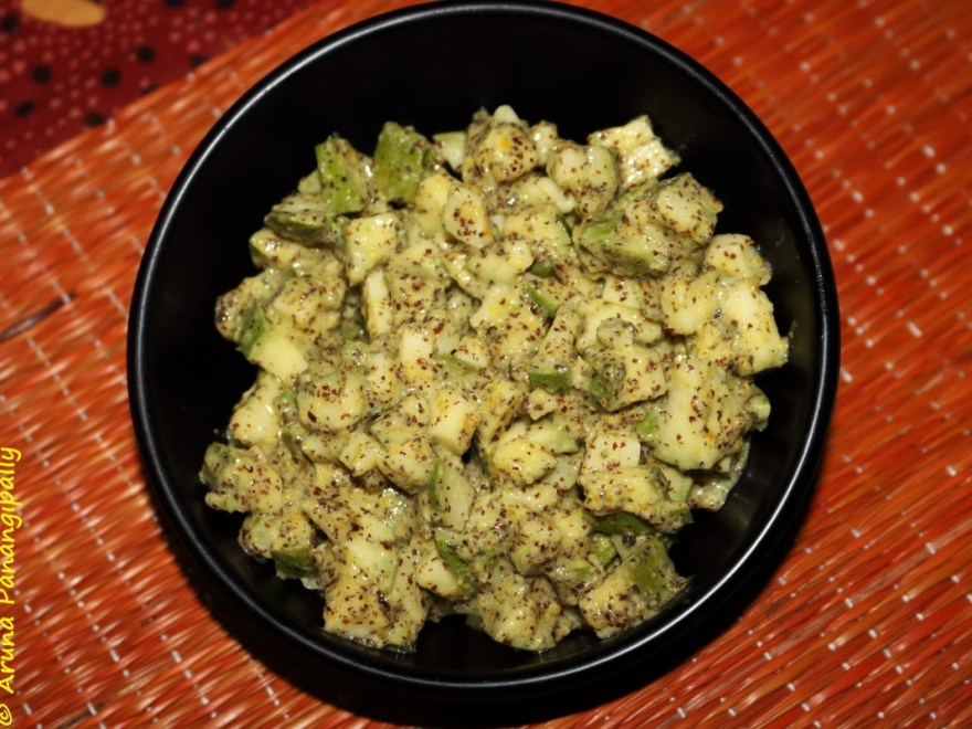 Avabaddalu | Mango Pieces Pickled in Mustard Green Chilli Paste