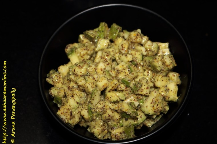 Avabaddalu | Instant Andhra Mango Mustard Pickle