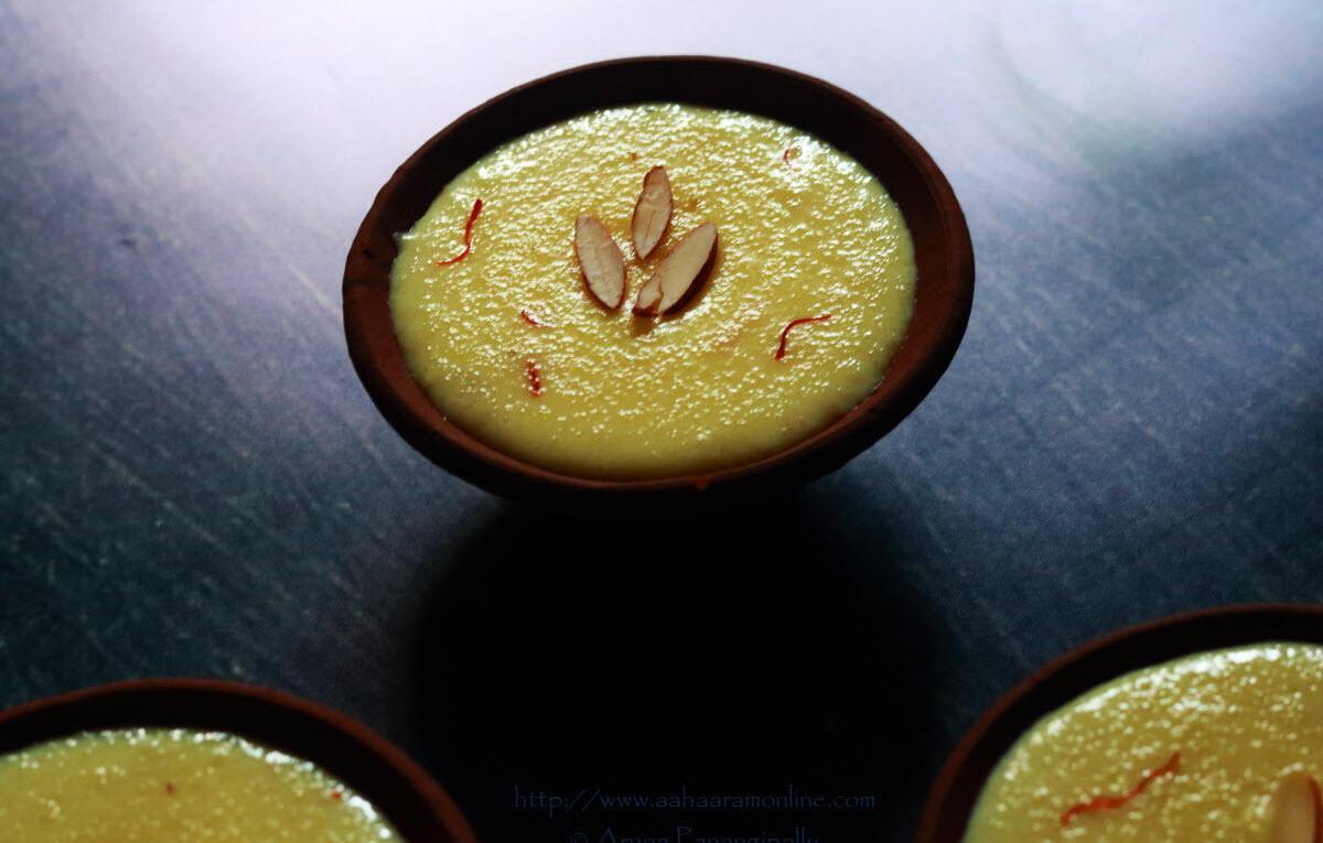 Kong Phirin | Suji Kesar Phirni from Kashmir | Semolina Saffron Pudding