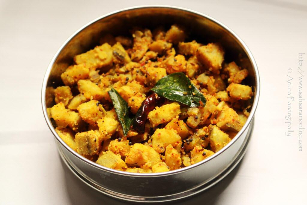 Aratikaya Menthi Podi Kura | Raw Banana Curry with Fenugreek Spice Powder