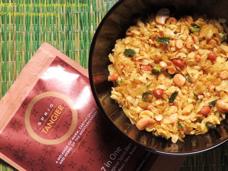 Mediterranean Spiced Poha Chivda