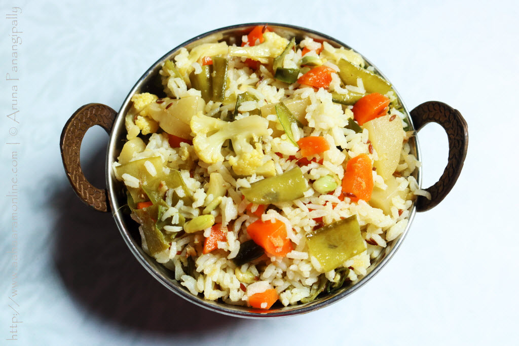 Shakhannam: A mixed vegetable rice served for navratri