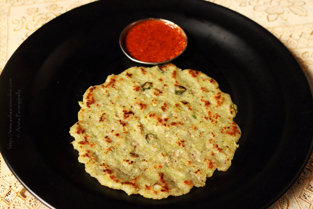 Taushe Bhakri | Cucumber Rotti served with Molaga Podi