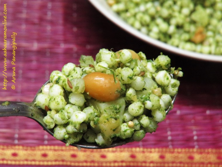 Spoonful of Green, Spicy Sabudana Khichdi