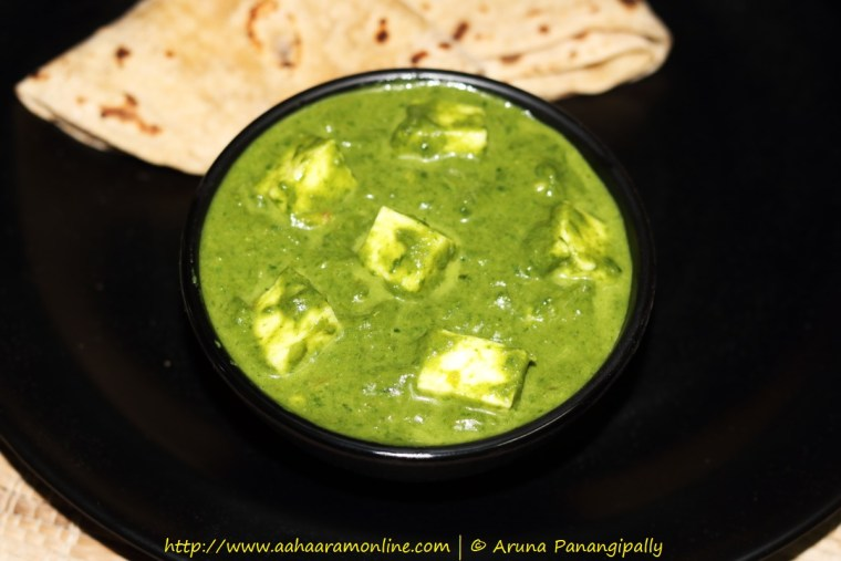 Palak Paneer with Green Garlic Chives and Spring Onions