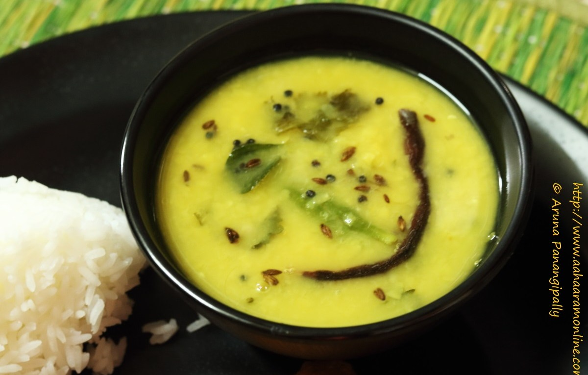 Dalithoy is Konkani Dal made with Tuvar Dal
