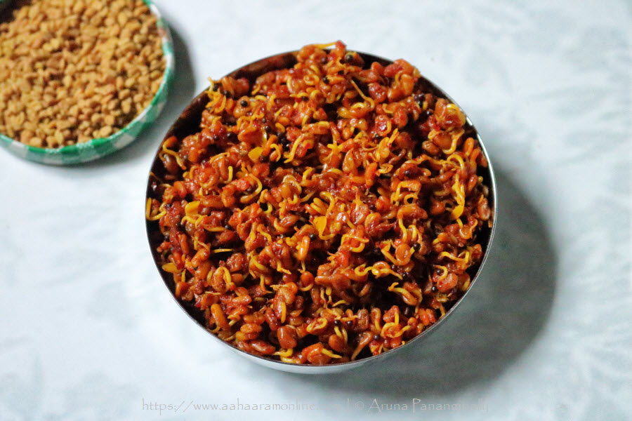 Sprouted Fenugreek Seeds Pickle