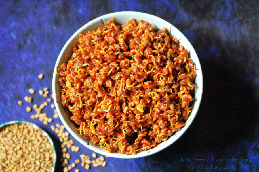 Methi Dana Achar: A pickle made with sprouted fenugreek seeds