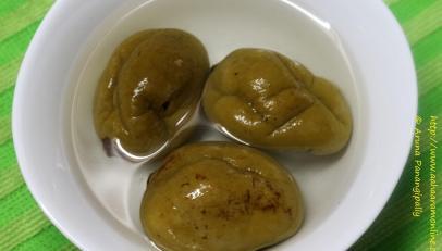 Uppu Manga Chamanthi | Coconut and Brined Mango Chutney from