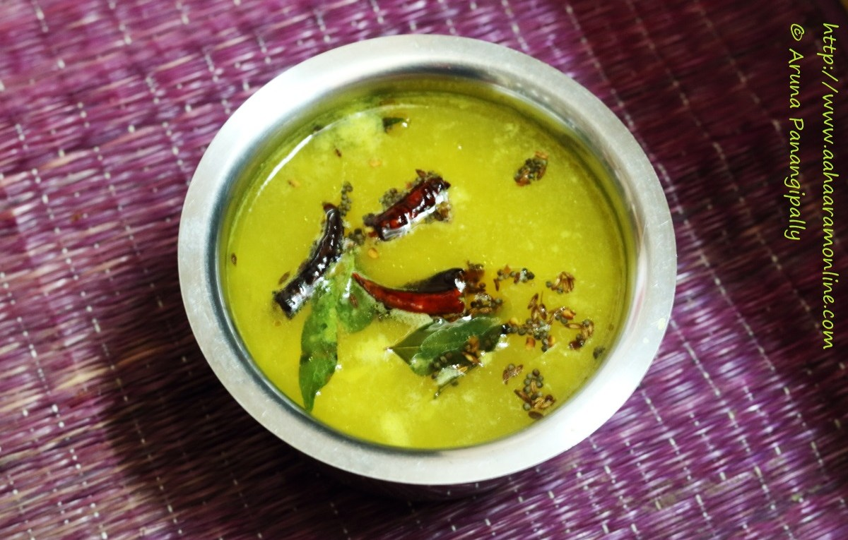 A Bowl of Mavinikai Saaru | Manga Rasam: A Soup made with raw mango