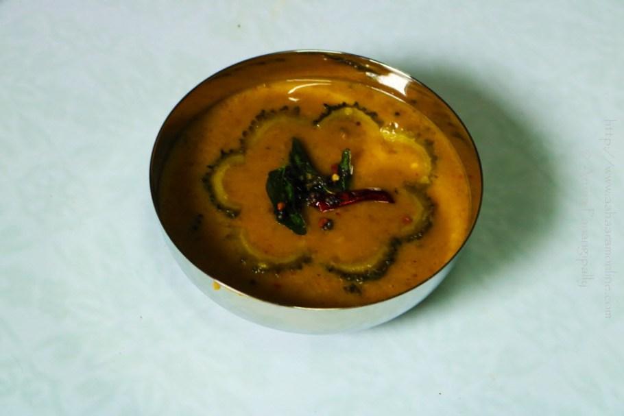 Karela Sambar | Bitter Gourd Sambar