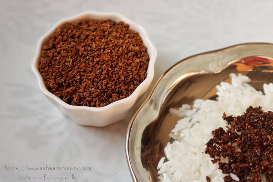 Vamu Kharam | Sundried Carom Seeds and Green Chilli Powder