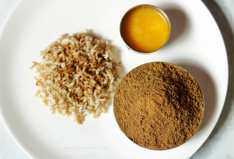 Angaya Podi (Without Dal or Paruppu): Post Partum Recipe