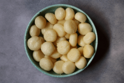 Chena Murki: Cottage Cheese Balls Cooked in Sugar Syrup