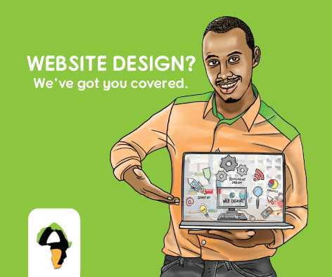 Website design at African Art Innovations Ltd