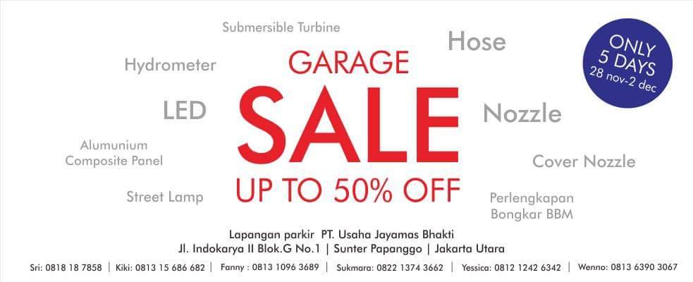 Garage Sale Perlengkapan SPBU PT. Usaha Jayamas Bhakti