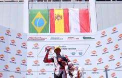 Dimas Ekky Ajib,  Podium Ketiga di CEV Moto2 Catalunya