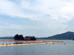 Christo The floating Piers San Paoli island to Sulzano