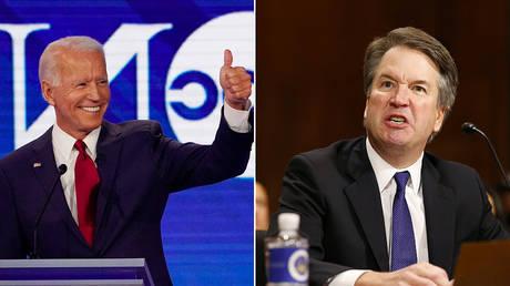 Joe Biden and Brett Kavanaugh © Reuters / Mike Blake and Michael Reynolds