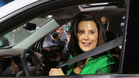Michigan Governor Gretchen Whitmer at the North American International Auto Show in Detroit, January 15, 2019