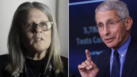 Dr. Judy Mikovits (L) © Screenshot from 'Plandemic'; Dr. Anthony Fauci © Reuters / Leah Millis