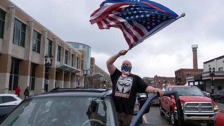Protester at Operation Gridlock demonstration in Lansing © Reuters / Seth Herald