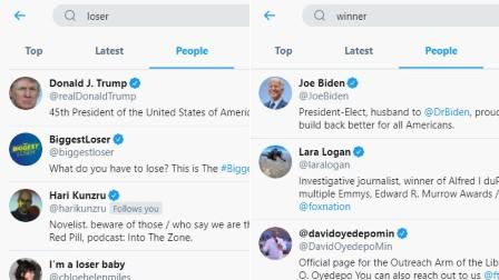 """ٹویٹر """"ناکام"""" لفظ کی تلاش کے دوران صدر ٹرمپ کو دکھانے لگا – ویب سائٹ پر الگورتھم میں چھیڑچھاڑ کا الزام: کمپنی کی نفی"""