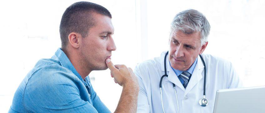 Worried Male Patient