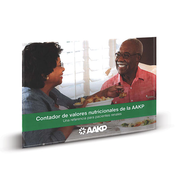 AAKP Nutrition Counter: A Reference For The Kidney Patient (Spanish)