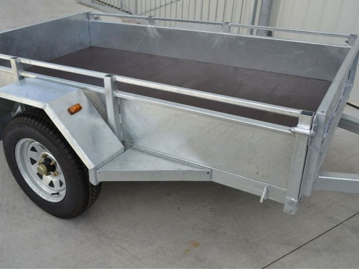Durable Single Axle Car Trailers