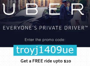 Sign up now to claim your free gift from Troy ($20 off first ride)*.