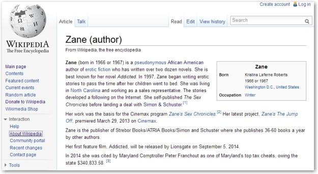 zane-wikipedia